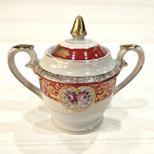 Vintage 40's Occupied Japan Porcelain Sugar Bowl